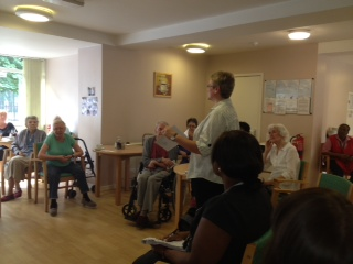 Me with residents at Staple House
